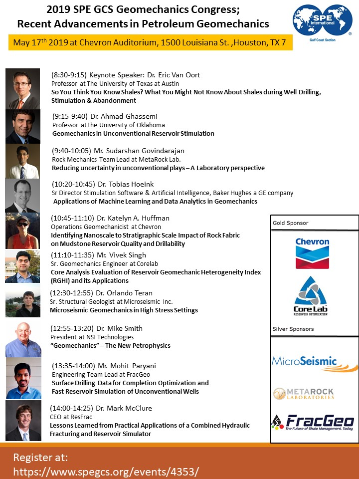 Event - 2019 SPE GCS Geomechanics Congress