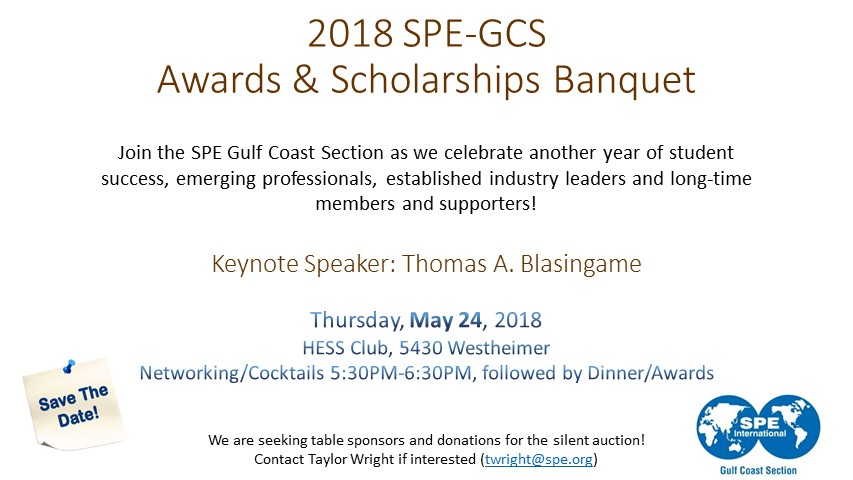 event 2018 spe awards and scholarships banquet spe gcs