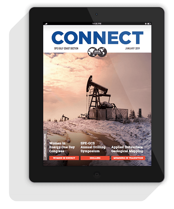 Connect January 2019 Newsletter Cover in iPad