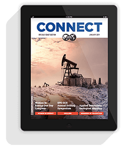 Connect Newsletter Cover in iPad