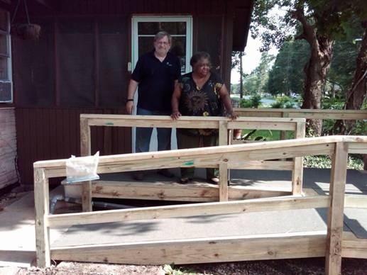 SPE Volunteers 7/10 Buliding Ramp for Ms. Reeee