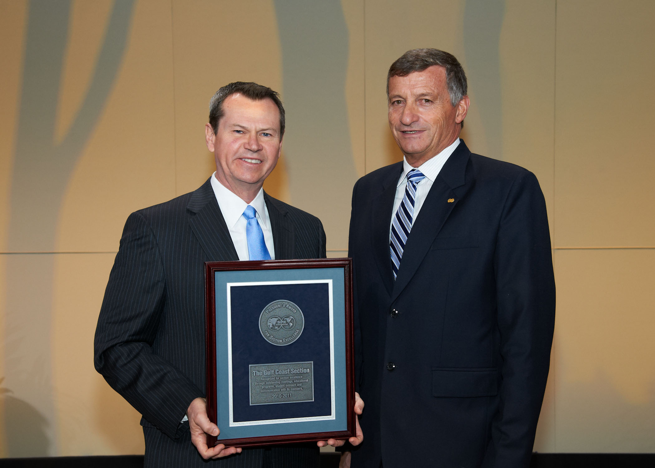 2011 SPE President's Award for Section Excellence to SPEGCS